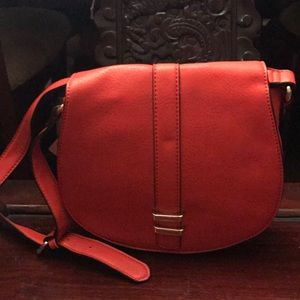 Neiman Marcus Red leather cross body